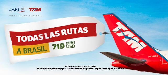 vuelo latam brasil