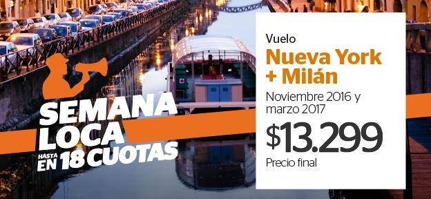 Vuelo NYC + Milan